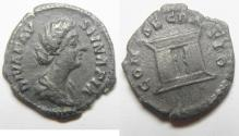 Ancient Coins - DIVA FAUSTINA Jr. SILVER DENARIUS. ALTAR.