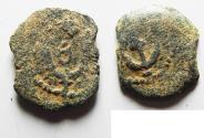 Ancient Coins - Judaea. Herodian Dynasty. Herod I AE prutah