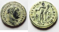 Ancient Coins - ORIGINAL DESERT PATINA MAXIMIANUS AE FOLLIS. ALEXANDRIA MINT