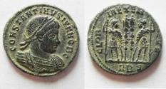 Ancient Coins - BEAUTIFUL CONSTANTINE II AE 3 . NICE GREEN PATINA