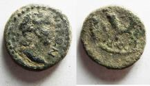 Ancient Coins - AS FOUND: Decapolis. Gadara. Nero. AD 54-68. Æ 19