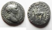 Ancient Coins - TRAJAN SILVER DENARIUS. 112 - 117 A.D