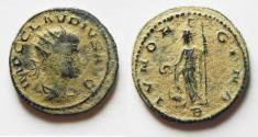 Ancient Coins - NICE AS FOUND CLAUDIUS II GOTHICUS AE ANTONINIANUS. DESERT PATINA