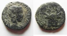Ancient Coins - JUDAEA. CAESAREA. VOLOUSIAN AE 23