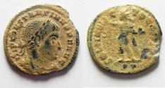 Ancient Coins - AS FOUND. CONSTANTINE I AE FOLLIS. NICE DESERT PATINA