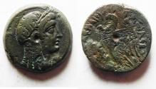 Ancient Coins - PTOLEMAIC EMPIRE. PTOLEMY VI 180-145 BC. AE25 . WITH ISIS