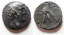 Ancient Coins - 30 PIECES OF SILVER: GREEK. Phoenicia.  Tyre. AR shekel (tetradrachm). 26mm, 12.32g. Struck in cvic year 97 (30/29 BC).