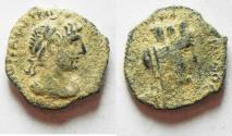 Ancient Coins - NICE DESERT PATINA: ARABIA. PETRA. HADRIAN AE 18