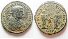 Ancient Coins - Maximianus AE Post 1st Abdication Follis. 306 AD