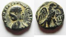 Ancient Coins - Egypt. Alexandria under Salonina (AD 254-268). Billon tetradrachm (20mm, 9.5g). Struck in regnal year 15 of Gallienus (AD 267/8).