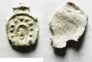 Ancient Coins - Judaea, Alexander Jannaeus, 103-76 BC, Lead Prutah? FOUND IN A HOARD OF  WIDOW'S MITES
