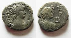 Ancient Coins - EGYPT, Alexandria. Nero. 54-68 AD. Billon Tetradrachm With Bust Of Alexandria