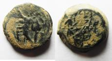 Ancient Coins - JUDAEA. NICE AS FOUND HASMONEAN PRUTAH
