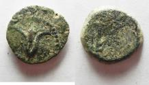 Ancient Coins - AS FOUND: Judean Kingdom, John Hyrcanus I, 134 - 104 BC. AE 15