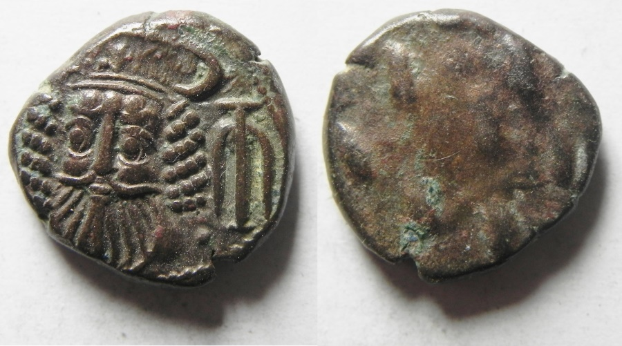 Ancient Coins - Elymais Dynasty Orodes II , Late 2nd Century A.D. - Æ Drachm  - choice quality