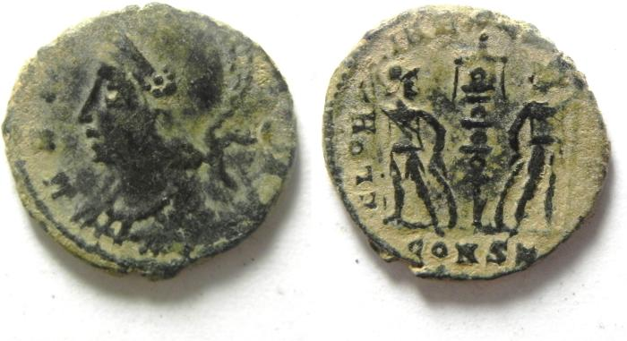 Ancient Coins - CONSTANTINE I AE 3 , CONSTANTINOPLE , CITY COMMEMORTIVE