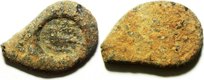 """Ancient Coins - ROMAN , ANCIENT SEAL IMPRESSION ON LEAD """"BULLA"""" WITH EAGLE?!"""