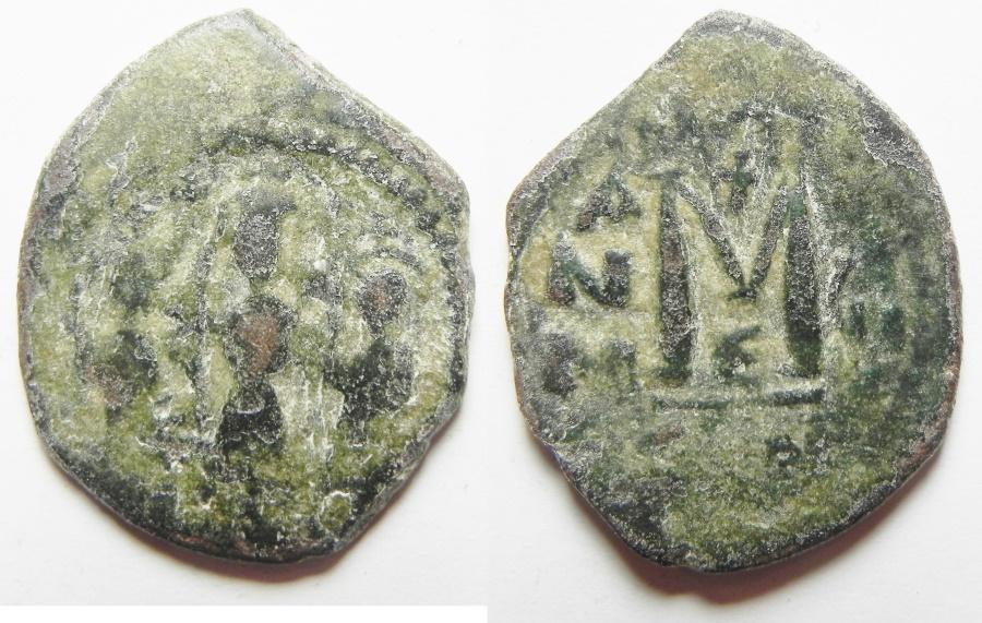 Ancient Coins - CONSTANS II AE FOLLIS - BYZANTINE