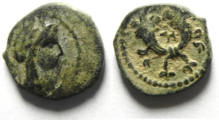 Ancient Coins - NABATAEAN , ARETAS IV AE 14 , NICE