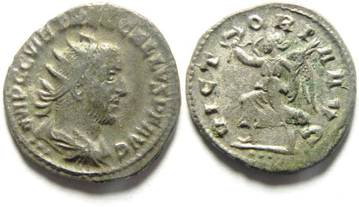 Ancient Coins - Trebonianus Gallus, 251-253 AD. AR Antoninianus
