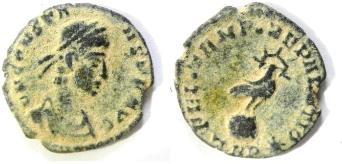 Ancient Coins - SCARCE CONSTANS AE 3 , NICE DESERT PATINA