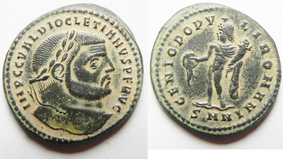 Ancient Coins - Diocletian. A.D. 284-305. Æ follis. Siscia
