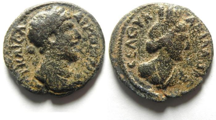 Ancient Coins - Syria, Decapolis. Abila. Marcus Aurelius. A.D. 161-180. Æ 23