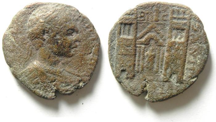 Ancient Coins -  DECAPOLIS, ABILA , CARACALLA , VERY RARE AE 28