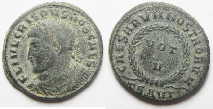 Ancient Coins - BEAUTIFUL CRISPUS AE 3