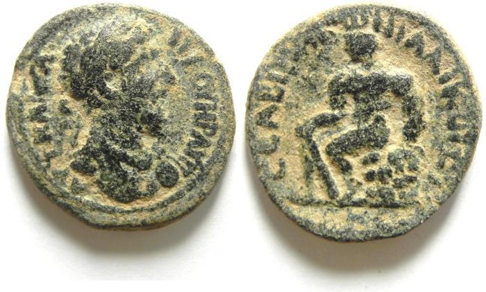Ancient Coins - Roman Provincial.Coele Syria, Decapolis. Abila under Lucius Verus, AD 161-169. AE 24