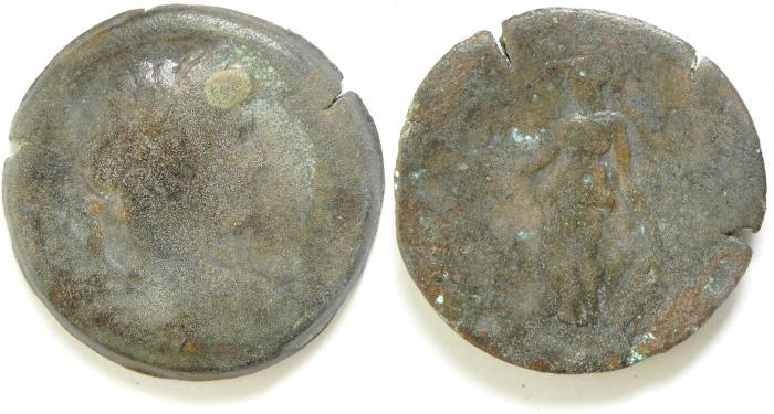 Ancient Coins - EGYPT , ALEXANDRIA , HADRIAN AE DRACHM
