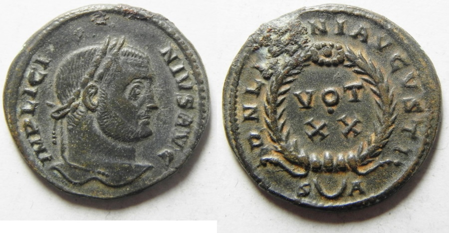 Ancient Coins - LICINIUS I AE 3 , NICE AND SCARCE ROME MINT