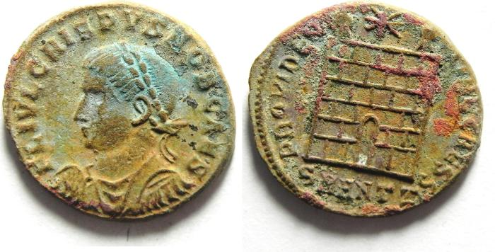Ancient Coins - CRISPUS AE 3 , NEEDS CLEANING