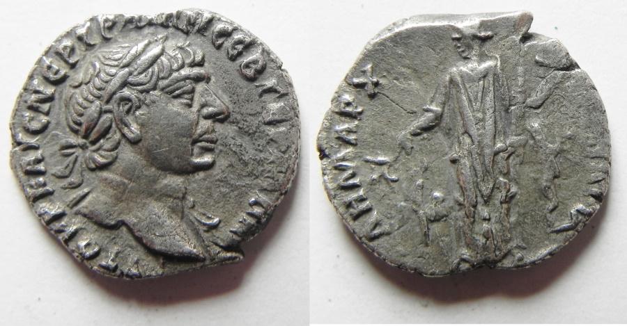 Ancient Coins - ARABIA- BOSTRA. TRAJAN SILVER DRACHM