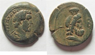 Ancient Coins - Egypt. Alexandria under Antoninus Pius (AD 138-161). AE diobol (23mm, 8.76g). Struck in regnal year 2 (AD 138/9).