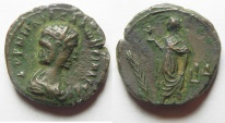 Ancient Coins -  Egypt. Alexandria under Salonina (Augusta, AD 254-268). Billon tetradrachm (22mm, 9.19g) Struck in regnal year 14 of Gallienus (AD 266/7).