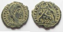 Ancient Coins - CONSTANTIUS II AE 3 . NICE ORIGINAL PATINA