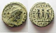 Ancient Coins - CONSTANS AE 4 . NICE DESERT PATINA