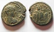 Ancient Coins - JUDAEA. SAMARIA. NEAPOLIS. ELAGABALUS AE 25