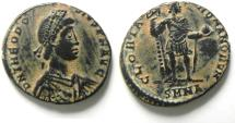 Ancient Coins - THEODOSIUS I AE 2 , BEAUTIFULL COIN