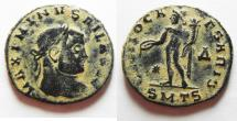 Ancient Coins - ORIGINAL DESERT PATINA: MAXIMINUS AE FOLLIS