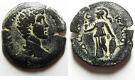 Ancient Coins - Egypt. Alexandria under Marcus Aurelius as Caesar (AD 139-161). AE drachm  (33mm, 18.16g).