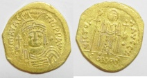 Ancient Coins -  BYZANTINE. Maurice Tiberius (582-6020). AV solidus (20mm, 3.58g) Constantinople mint. Officinal Z
