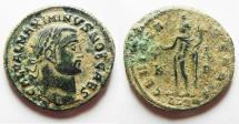 Ancient Coins - CHOICE MAXIMINUS II AE FOLLIS. AS FOUND. ALEXANDRIA