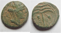 Ancient Coins - PHOENICIA. 1ST CENT. B.C AE 14MM . 2.45GM