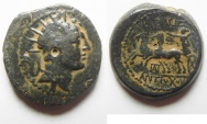 Ancient Coins - Antiochus IV Epiphanes 175 - 164 B.C. Ake Mint. AE 18