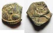 Ancient Coins - NABATAEAN KINGDOM. RABBEL II & GAMILAT AE 16