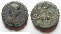 Ancient Coins - Egypt. Alexandria under Aquilia Severa (Augusta, AD 220-222. Billon tetradrachm (23mm, 13.62g). Struck in regnal year 5 of Elagabalus (AD 221/2).