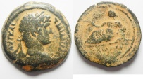 Ancient Coins - EGYPT. ALEXANDRIA AE DIOBOL OF HADRIAN