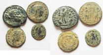 Ancient Coins - LOT OF 4 NICE AE ROMAN COINS, AS FOUND